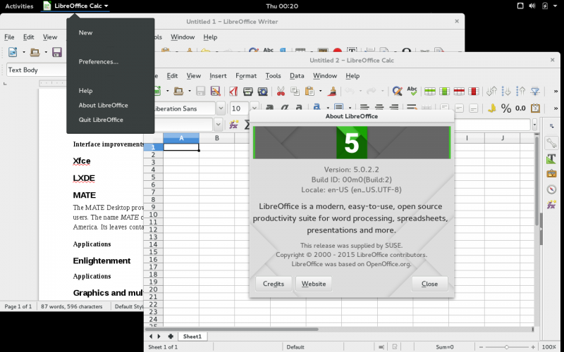 GNOME LibreOffice 5