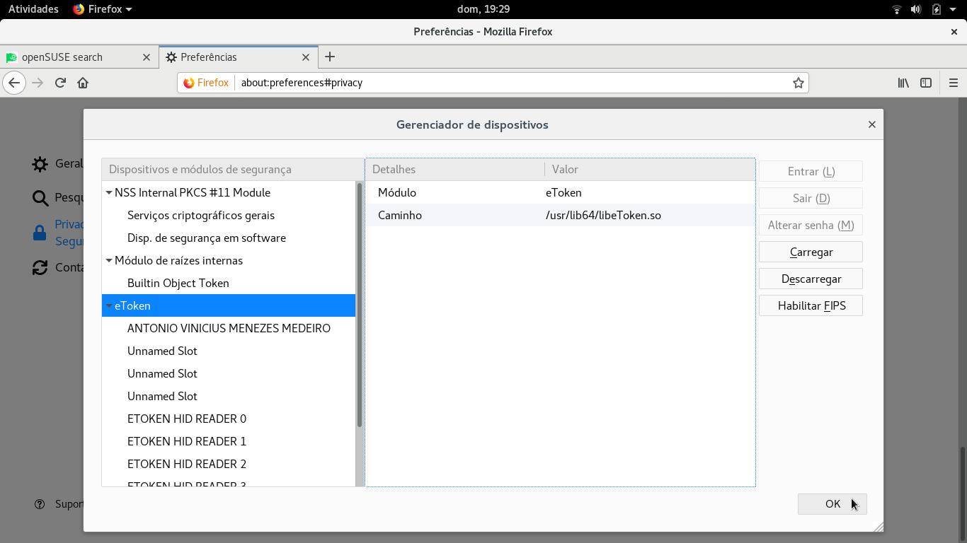 Configurando certificado digital no Linux openSUSE - Linux